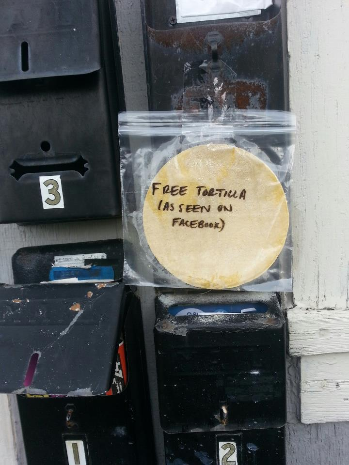 Free Tortilla (As Seen on Facebook)
